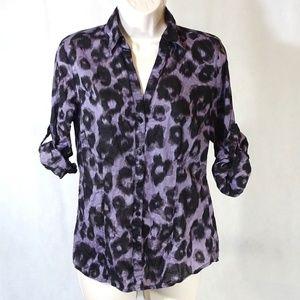 Michael Michael Kors Y-neck Shirt Women Size 4